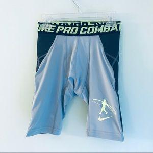 Boys Nike Pro Combat Sliding Shorts